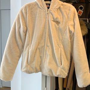 Patriots Cream colored fake fur Jacket